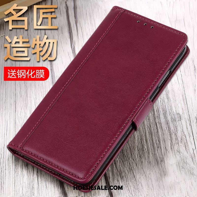 Honor View30 Hoesje Mobiele Telefoon Blauw Leren Etui Trend Online