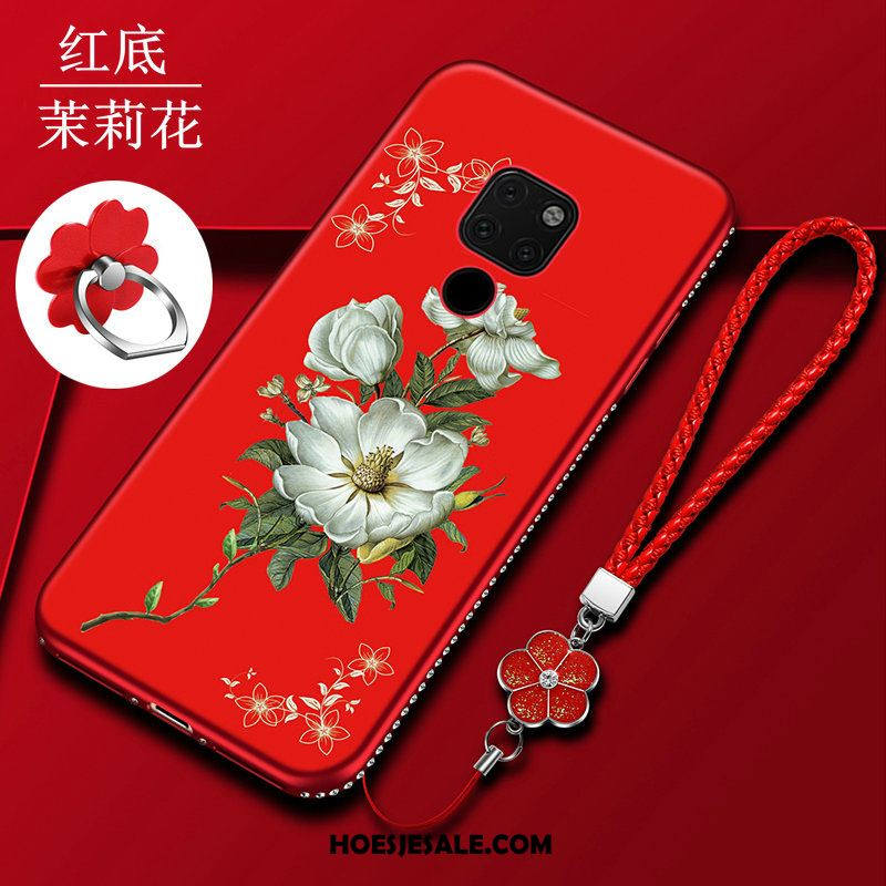 Huawei Mate 20 Hoesje All Inclusive Trend Rood Anti-fall Bescherming Online