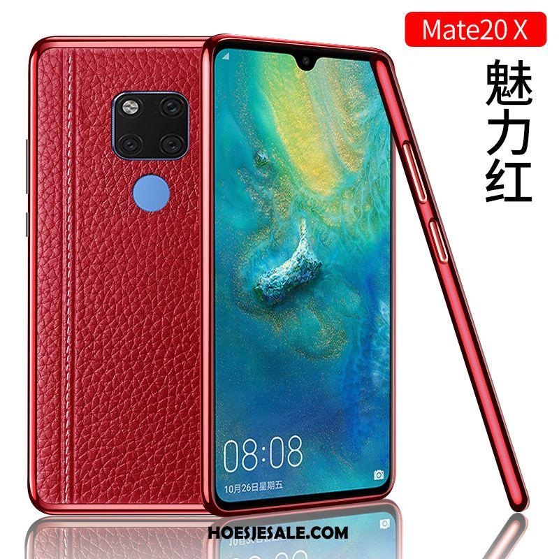 Huawei Mate 20 X Hoesje Hoes Mobiele Telefoon Nieuw Trendy Merk Leren Etui Online