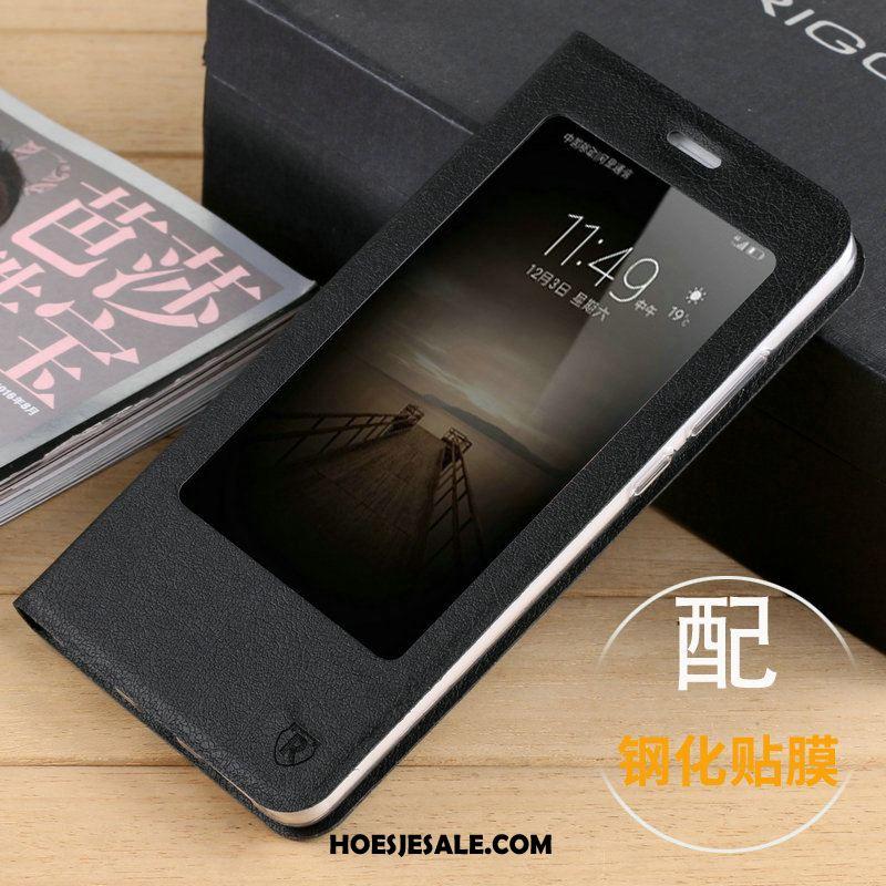 Huawei Mate 9 Hoesje Folio Purper Hoes Bescherming Ondersteuning Goedkoop
