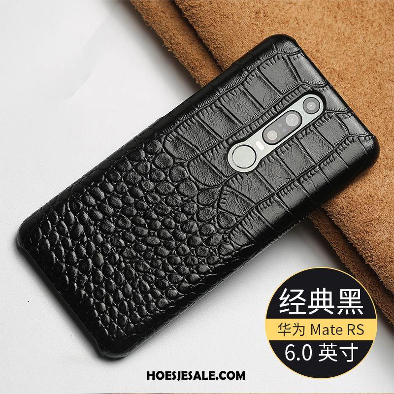 Huawei Mate Rs Hoesje Edelsteen Mobiele Telefoon Anti-fall Echt Leer Blauw Sale