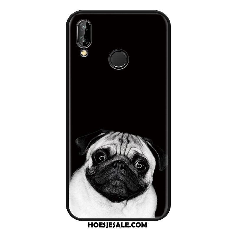 Huawei Nova 3e Hoesje Grappig Anti-fall Hoes Lovers Eenvoudige Goedkoop
