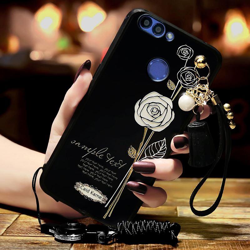 Huawei P Smart Hoesje Bescherming Mobiele Telefoon Roze Reliëf Wit Kopen