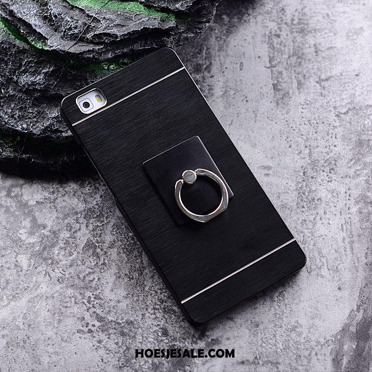 Huawei P8 Hoesje Hoge Hard Bescherming Ring Zilver Kopen
