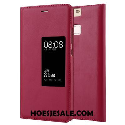 Huawei P9 Hoesje Folio Bescherming Hoge Mobiele Telefoon Leren Etui Goedkoop
