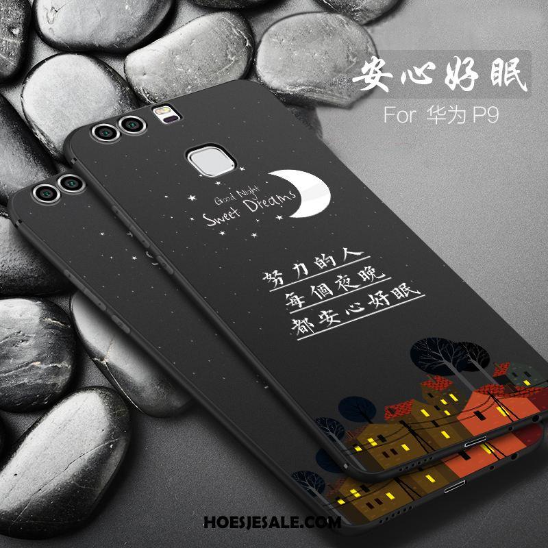 Huawei P9 Hoesje Scheppend Mobiele Telefoon Persoonlijk Zwart Zacht Aanbiedingen