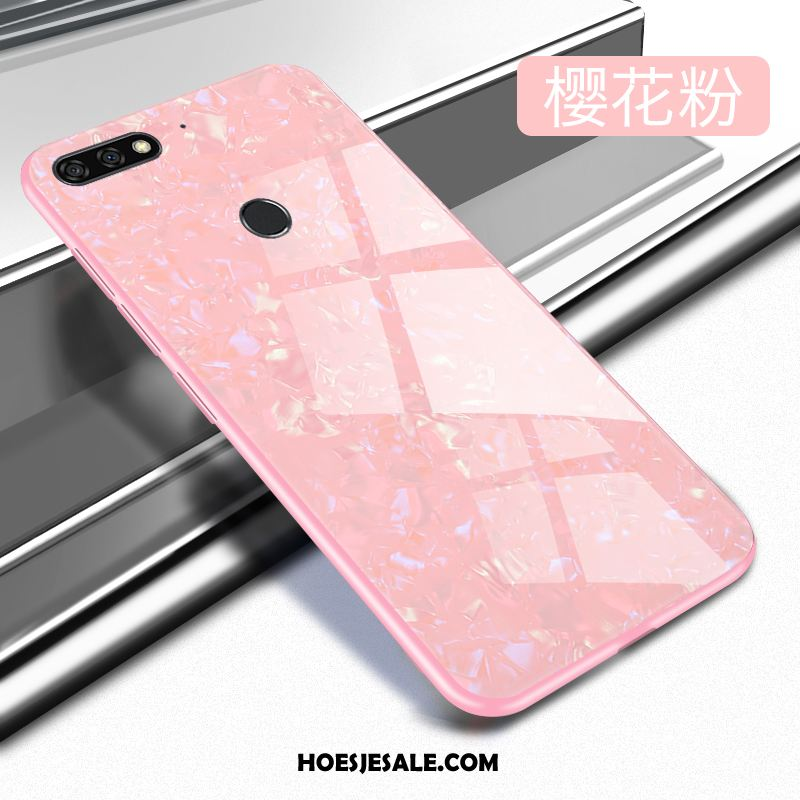 Huawei Y7 2018 Hoesje Mobiele Telefoon Hoes Glas Goedkoop