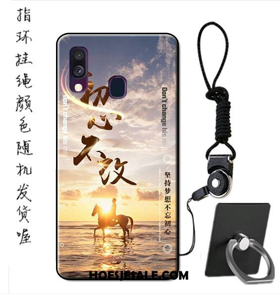 Samsung Galaxy A40 Hoesje Anti-fall Bescherming Hoes Pas Hanger Sale