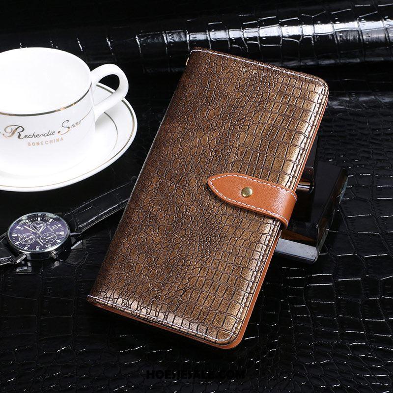 Samsung Galaxy A6+ Hoesje Mobiele Telefoon Leren Etui Anti-fall Zwart Folio Sale