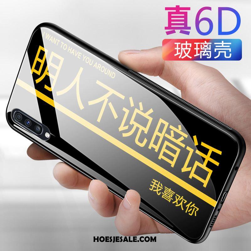 Samsung Galaxy A70 Hoesje Scheppend Geel All Inclusive Ster Siliconen Goedkoop