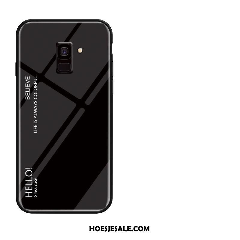 Samsung Galaxy A8 2018 Hoesje Ster Zacht Gehard Glas Hoes Bescherming Sale