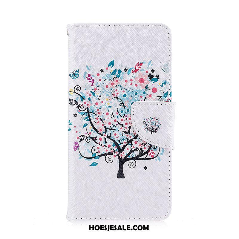 Samsung Galaxy A9 2018 Hoesje Hoes Leren Etui Bescherming Blauw Folio Sale