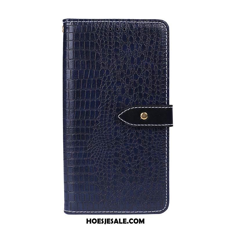 Samsung Galaxy Note 10+ Hoesje Leren Etui Anti-fall Ster Krokodillenleer Folio Online