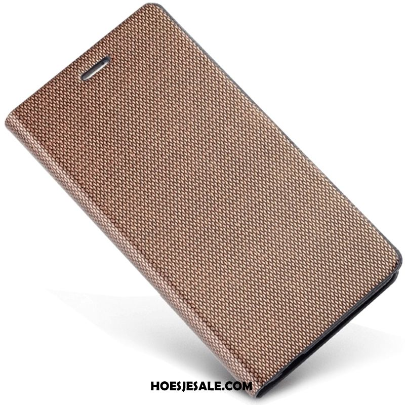 Samsung Galaxy Note 4 Hoesje Echt Leer Ster Hoes Goud Bedrijf Goedkoop