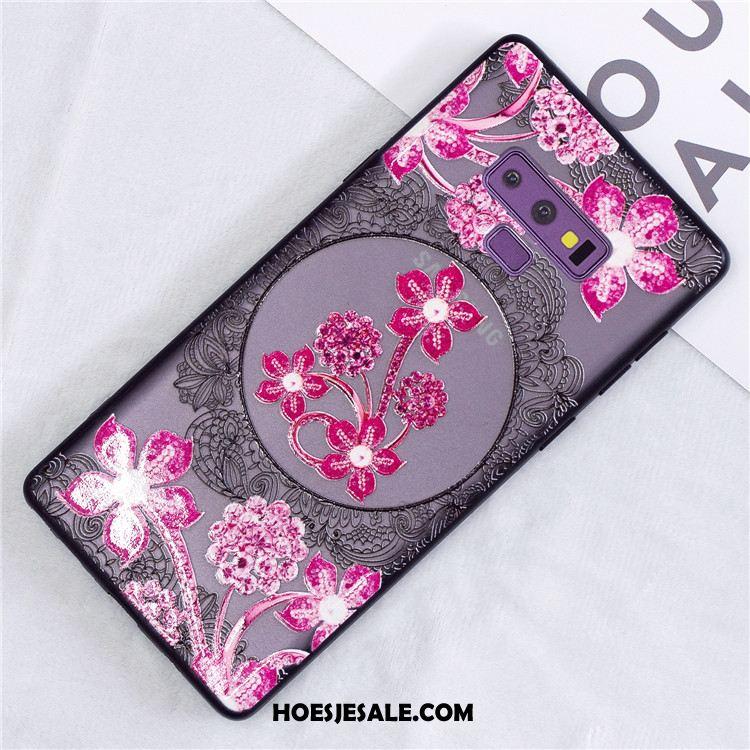 Samsung Galaxy Note 9 Hoesje Roze Kant Ster Bescherming Hoes Korting