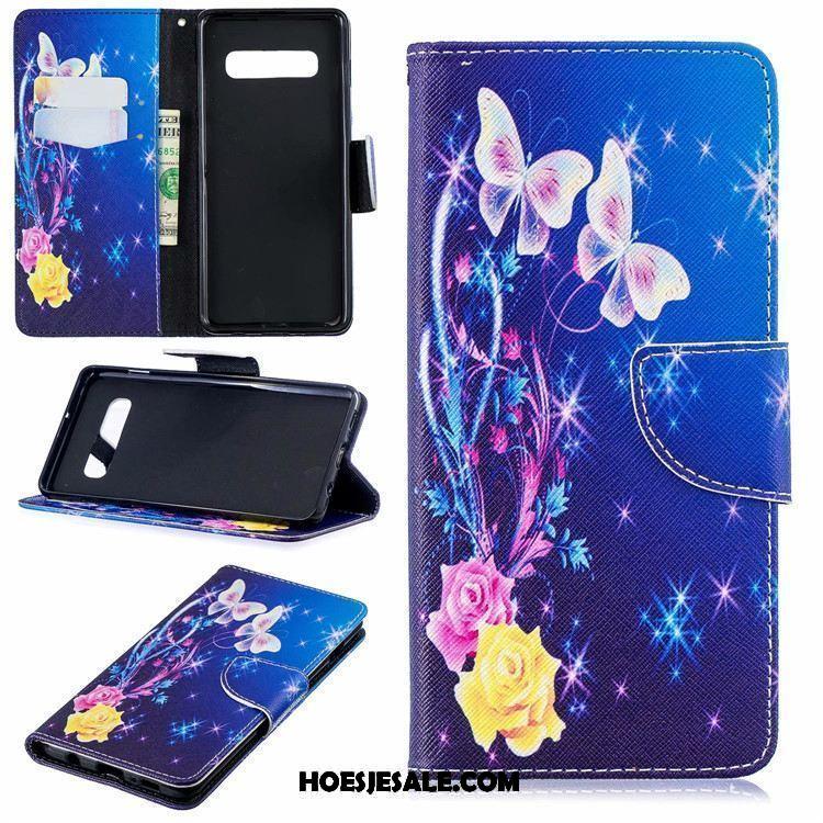Samsung Galaxy S10 Hoesje Ondersteuning Geschilderd Wit Mobiele Telefoon Ster Goedkoop