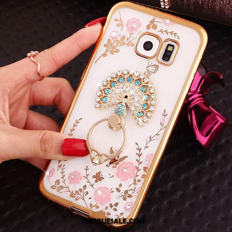 Samsung Galaxy S6 Edge Hoesje Roze Achterklep Ring Mobiele Telefoon Ster Sale