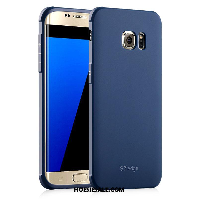 Samsung Galaxy S7 Hoesje Zwart All Inclusive Bescherming Zacht Hemming
