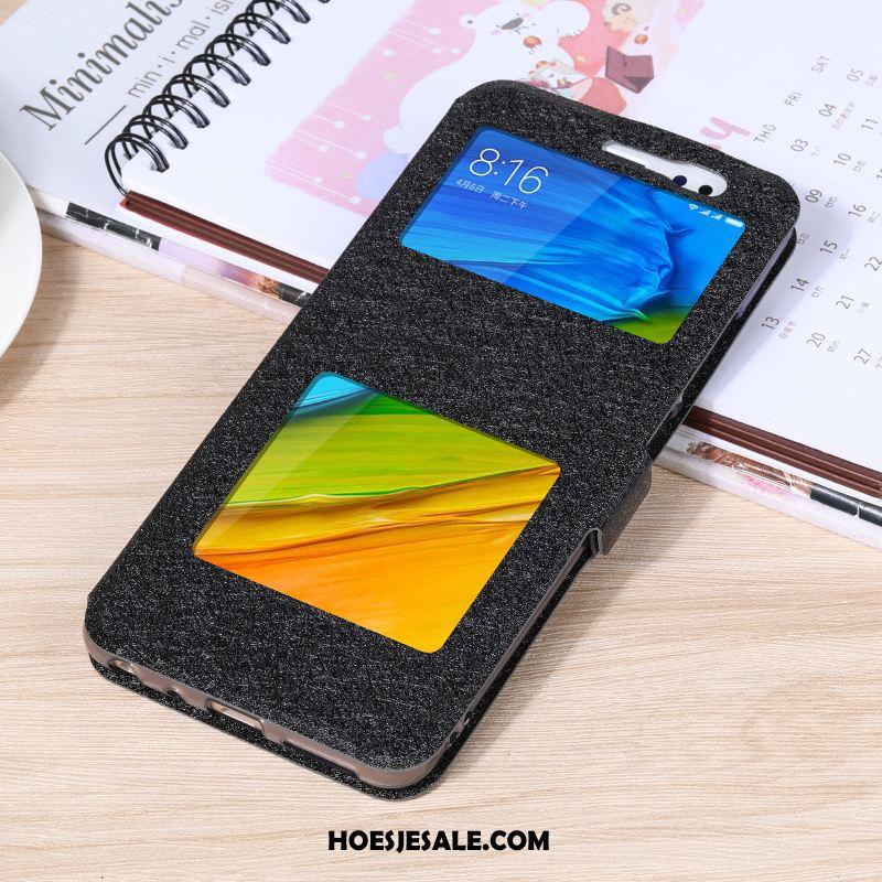 Xiaomi Redmi 7a Hoesje Mobiele Telefoon Zwart Rood Windows Folio Sale