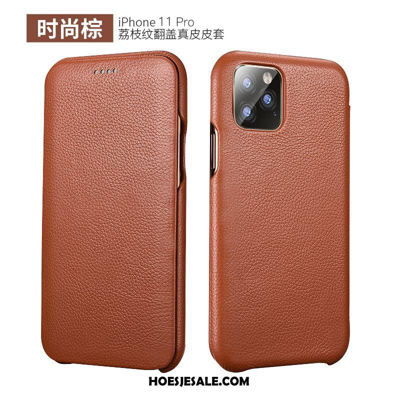 iPhone 11 Pro Hoesje Anti-fall Leren Etui Hoes Folio Mode Sale