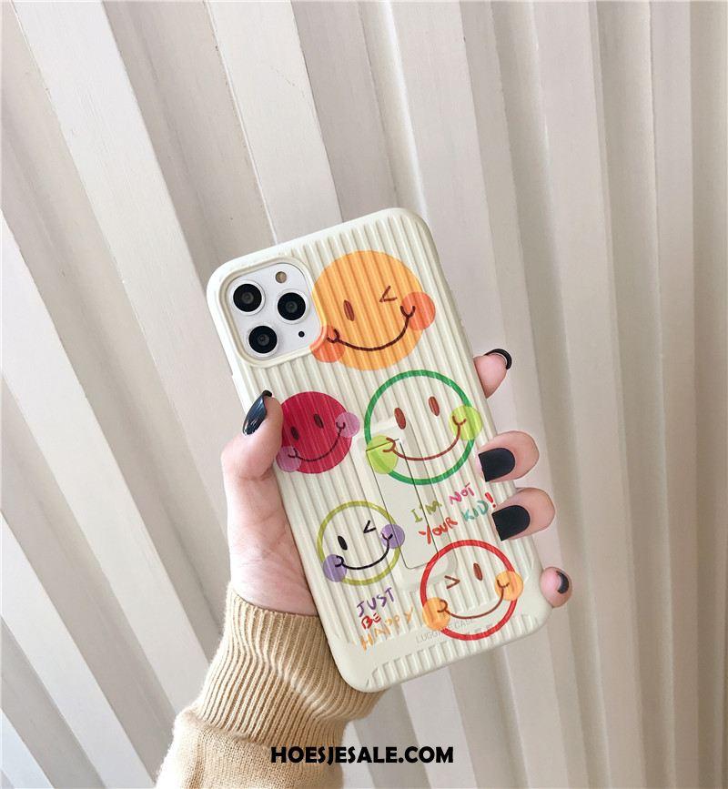 iPhone 11 Pro Hoesje Smiley Zacht Eenvoudige Persoonlijk Ondersteuning Korting