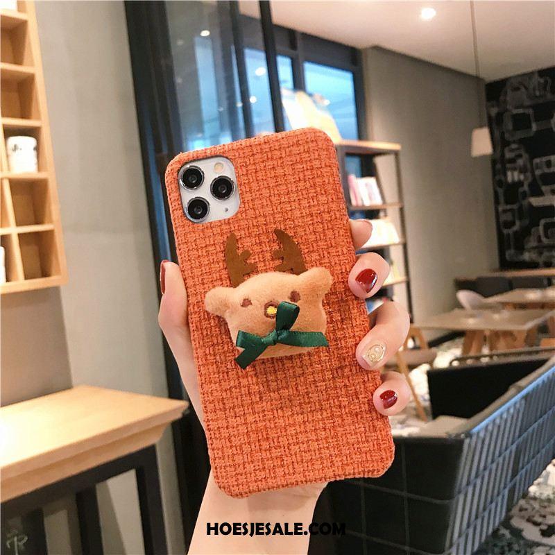 iPhone 11 Pro Max Hoesje Driedimensionaal Hoes Wind Zacht Flanel Goedkoop