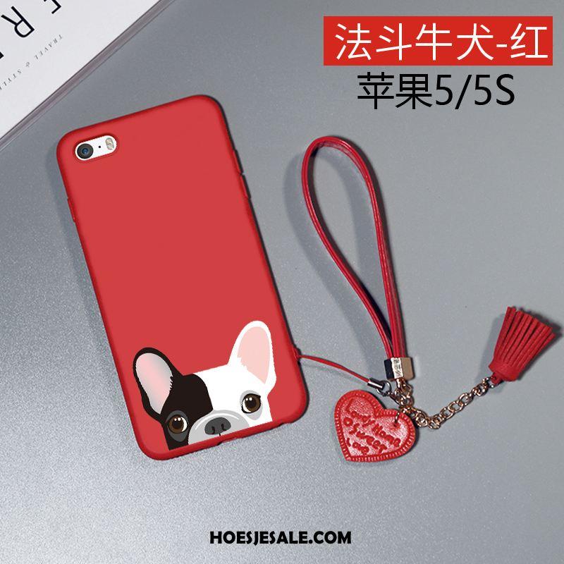 iPhone 5 / 5s Hoesje Anti-fall Siliconen Bescherming Rood Hoes Goedkoop