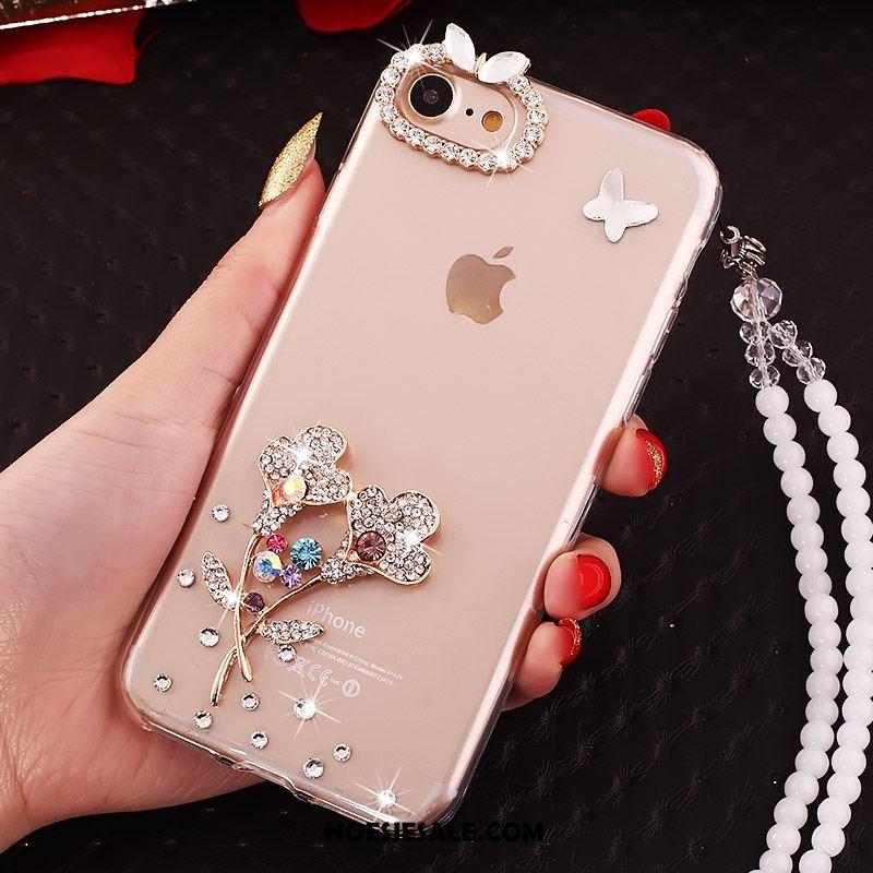 iPhone 5c Hoesje Siliconen Doorzichtig Met Strass Zacht Anti-fall Korting