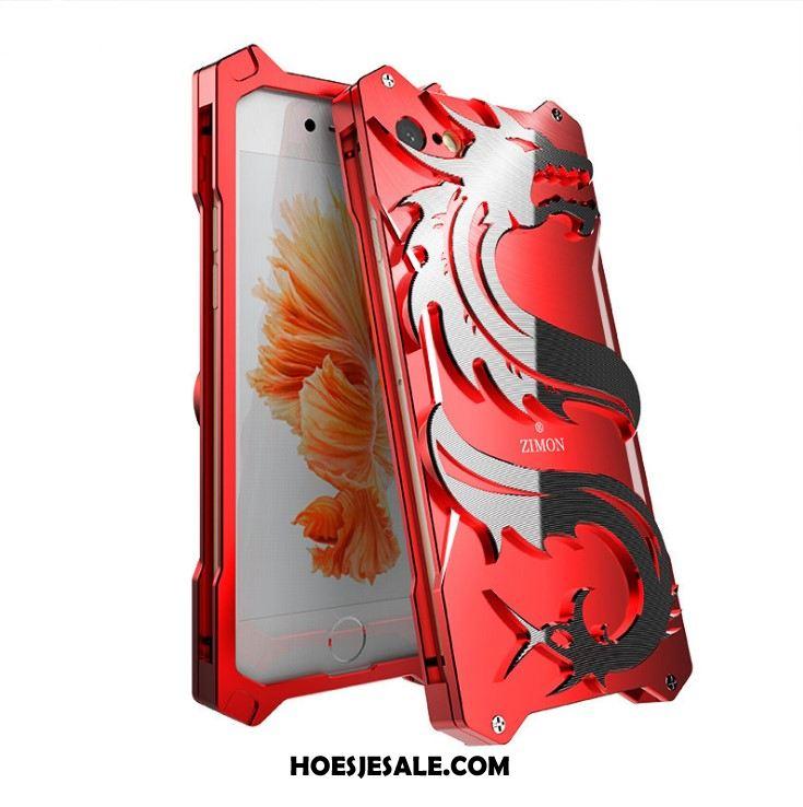 iPhone 6 / 6s Hoesje Geel Luxe Metaal Draak Omlijsting Online