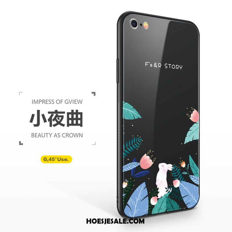 iPhone 6 / 6s Hoesje Lovers Glas Mobiele Telefoon Anti-fall Nieuw Sale