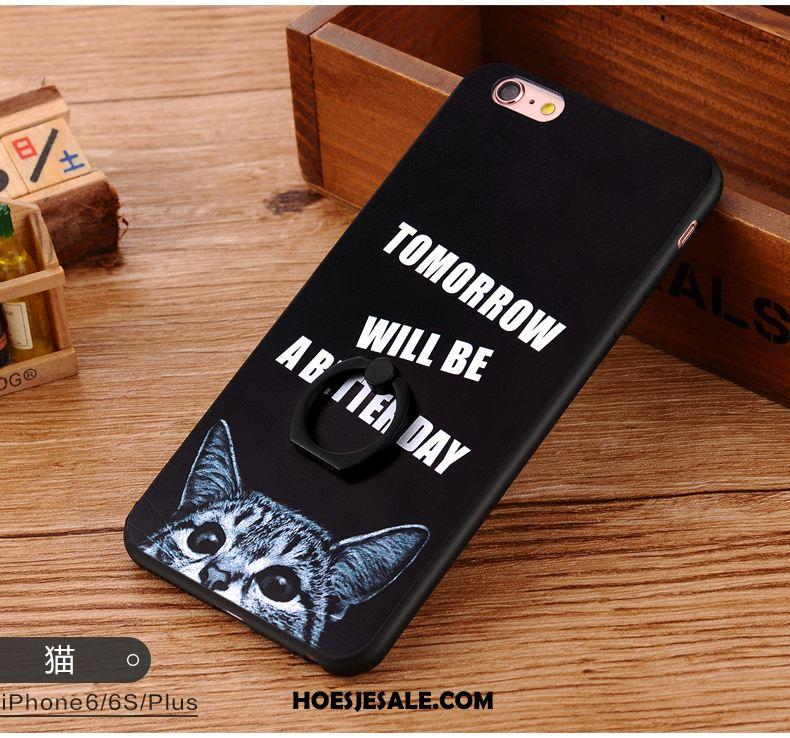 iPhone 6 / 6s Hoesje Zwart Hanger Anti-fall Mobiele Telefoon All Inclusive Kopen