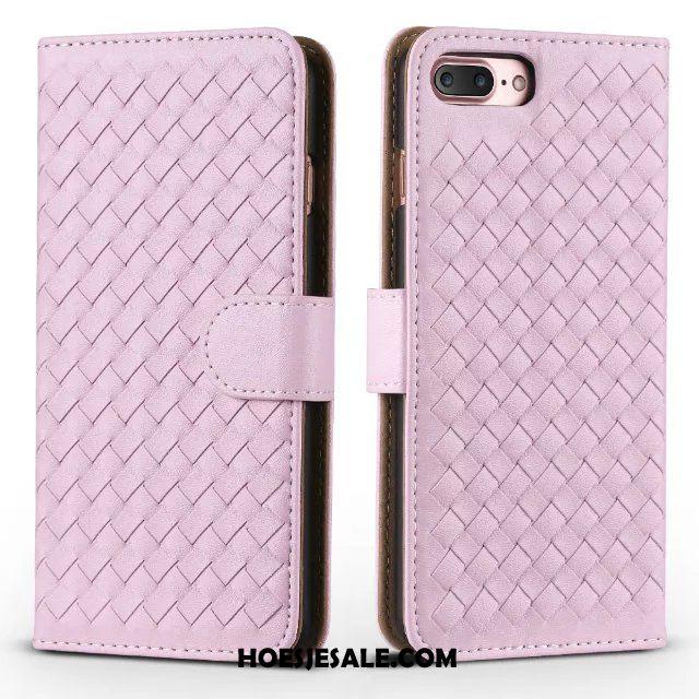 iPhone 7 Plus Hoesje Weven Mobiele Telefoon Bescherming Anti-fall Folio Kopen