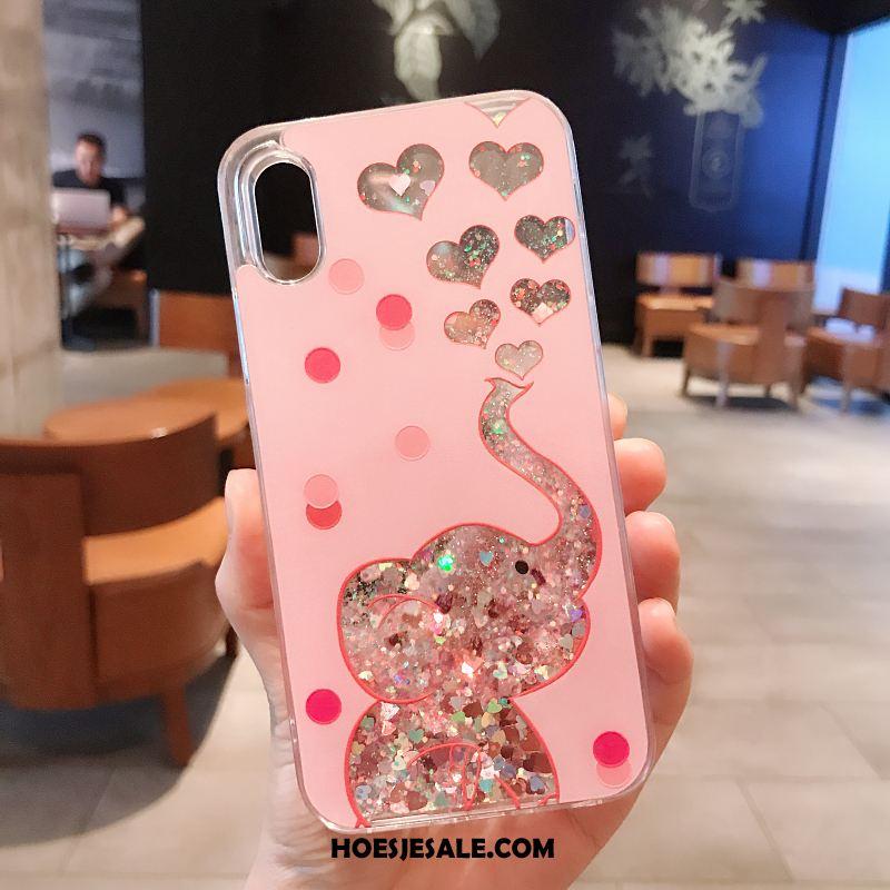 iPhone X Hoesje Roze Scheppend Mobiele Telefoon Spotprent Bescherming Korting