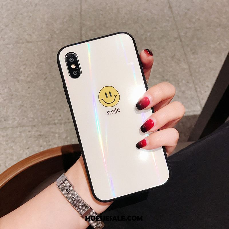 iPhone Xs Hoesje Super Anti-fall Trendy Merk Glas Smiley Sale