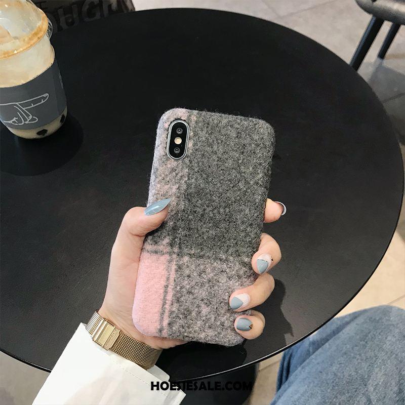 iPhone Xs Max Hoesje Zwart Mobiele Telefoon Trend Geruit Brits Online
