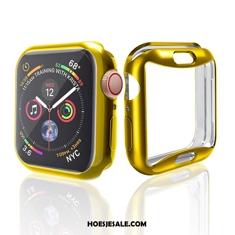 Apple Watch Series 4 Hoesje All Inclusive Hoes Plating Anti-fall Goud Goedkoop