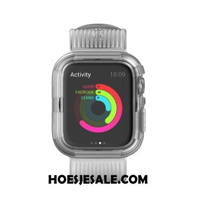 Apple Watch Series 4 Hoesje Anti-fall Hoes Grijs Sport Siliconen Sale