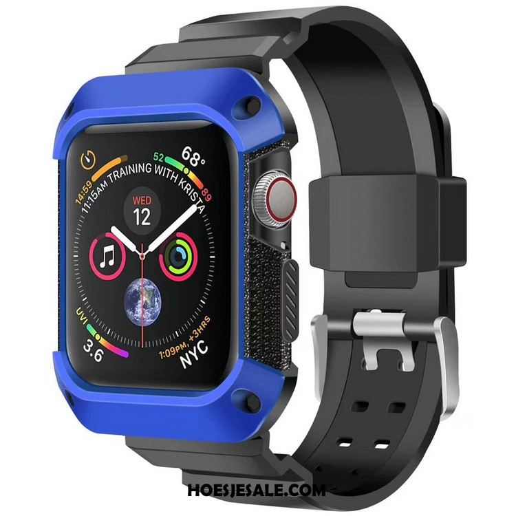 Apple Watch Series 5 Hoesje Anti-fall Bescherming Pantser Blauw Sport