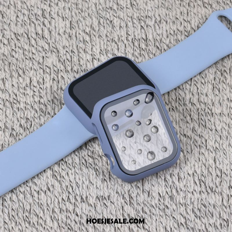Apple Watch Series 5 Hoesje Hard Skärmskydd Hoes Blauw All Inclusive