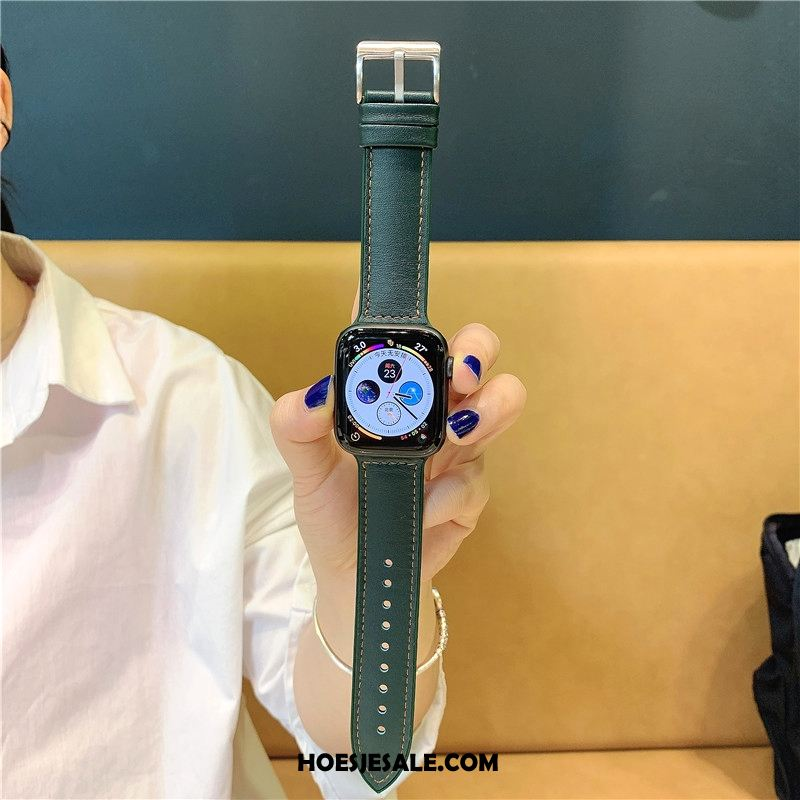 Apple Watch Series 5 Hoesje Siliconen Groen Leer Korting