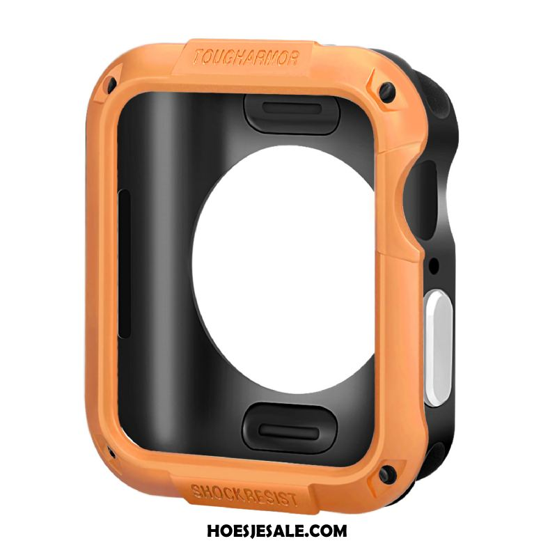 Apple Watch Series 5 Hoesje Siliconen Omlijsting Accessoires Anti-fall Oranje Sale