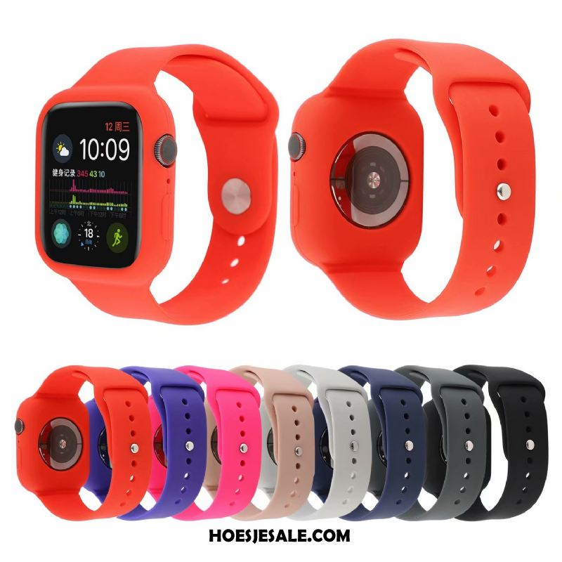 Apple Watch Series 5 Hoesje Sport Rood Mode Trend Bescherming Sale