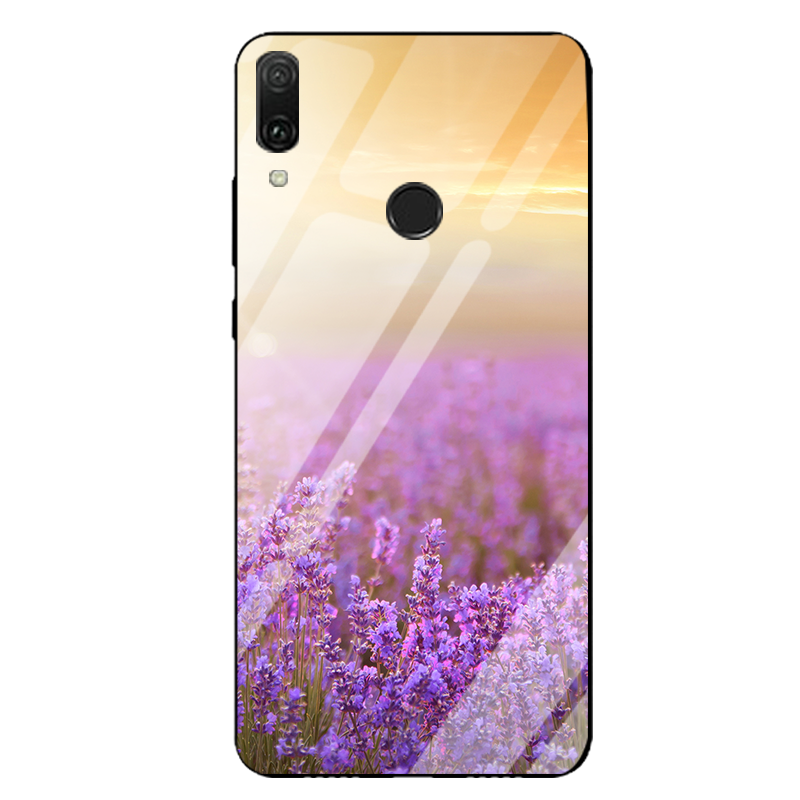 Huawei P Smart Z Hoesje Purper Landschap Glas Spiegel Anti-fall Online