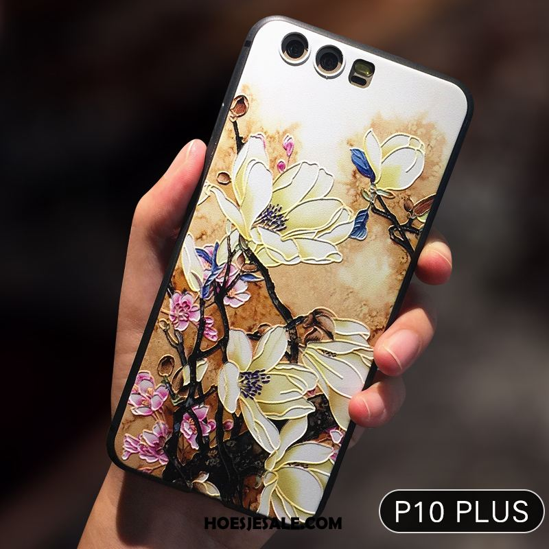 Huawei P10 Plus Hoesje Geel Siliconen Hoes Anti-fall Mobiele Telefoon Kopen