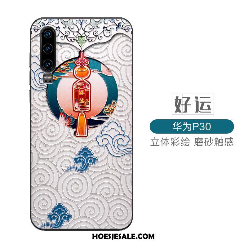 Huawei P30 Hoesje Hard Anti-fall Bescherming Scheppend Hoes Goedkoop