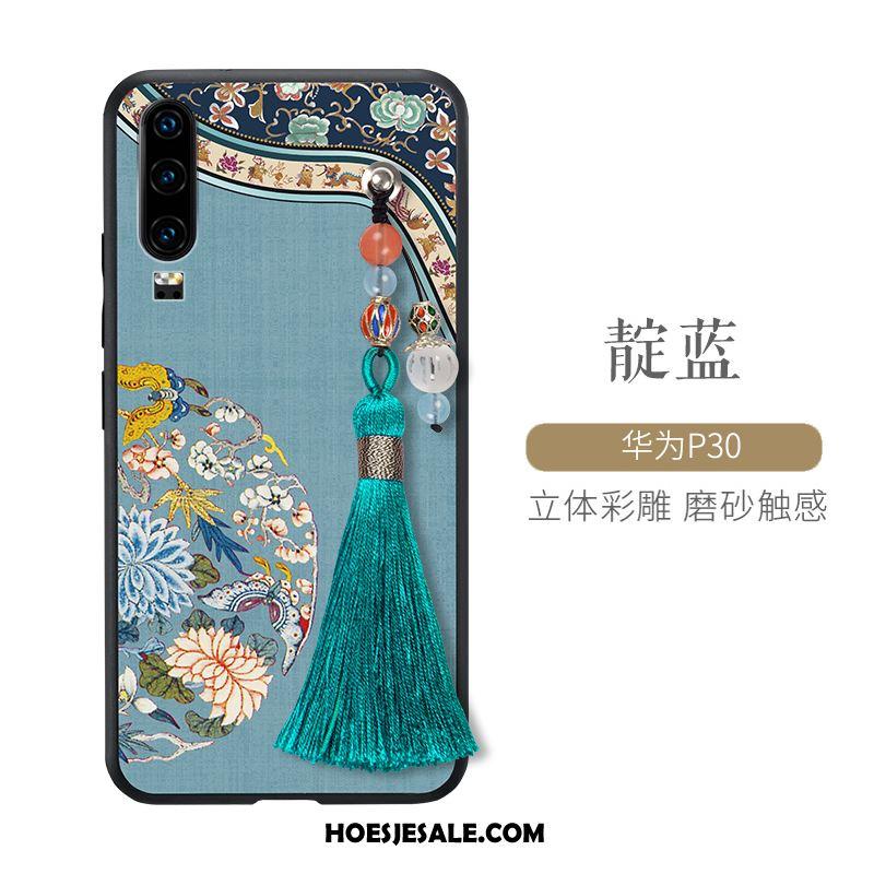 Huawei P30 Hoesje Mobiele Telefoon Chinese Stijl Scheppend Dun Anti-fall Kopen