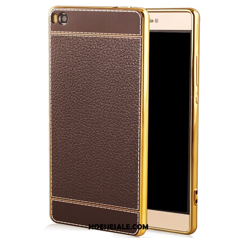 Huawei P8 Hoesje All Inclusive Luxe Bruin Leer Anti-fall Korting