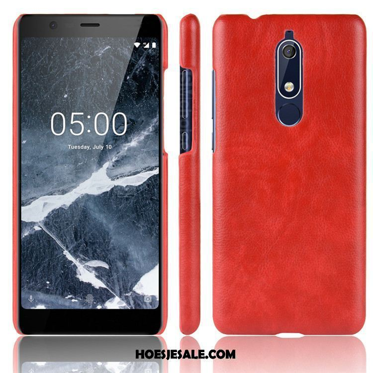 Nokia 5.1 Hoesje Rood Hard Hoes Scheppend Anti-fall Online