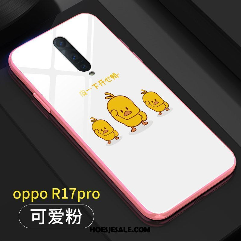 Oppo R17 Pro Hoesje Spotprent Mini Anti-fall Trendy Merk Roze Kopen