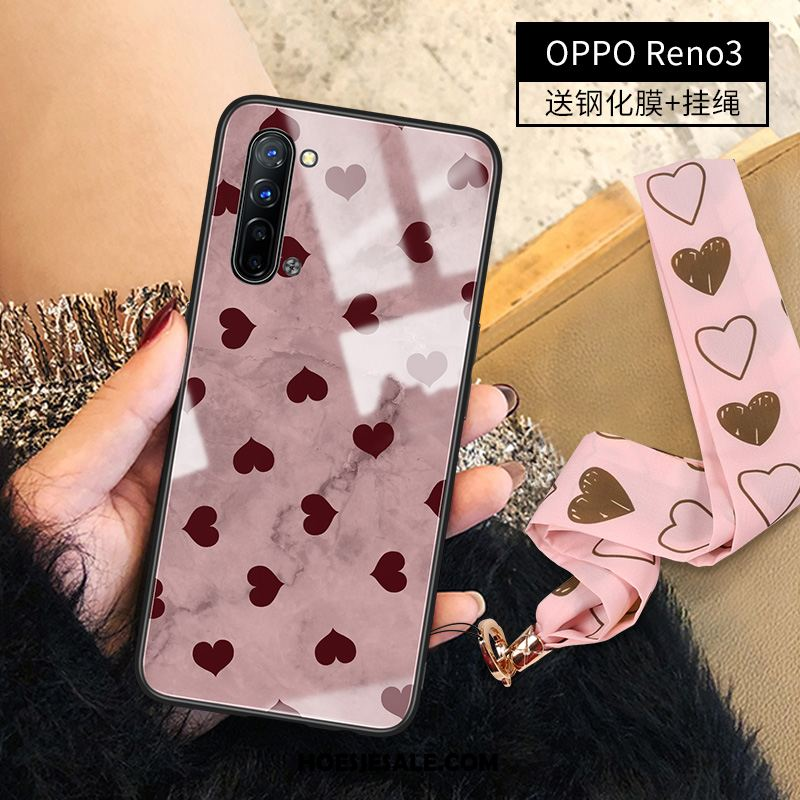 Oppo Reno 3 Hoesje Anti-fall Hoes Glas Luxe All Inclusive Sale